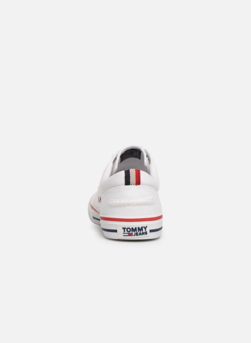 Deportivas Tommy Hilfiger Textile sneaker Blanco vista lateral derecha