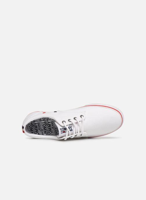 Baskets Tommy Hilfiger Textile sneaker Blanc vue gauche