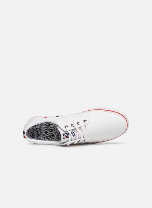 Deportivas Tommy Hilfiger Textile sneaker Blanco vista lateral izquierda