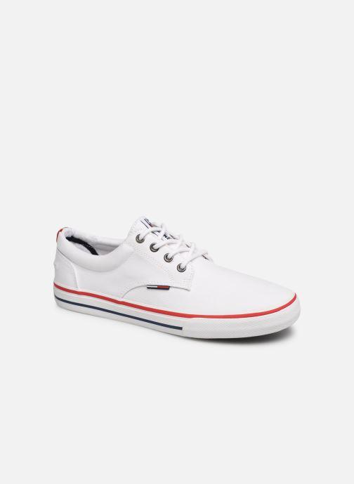Deportivas Tommy Hilfiger Textile sneaker Blanco vista de detalle / par