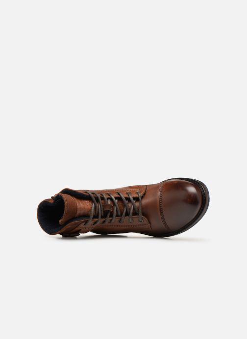 Bottines et boots Mustang shoes Wilfried Marron vue gauche