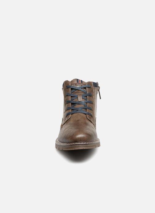 Bottines et boots Mustang shoes Mike Marron vue portées chaussures