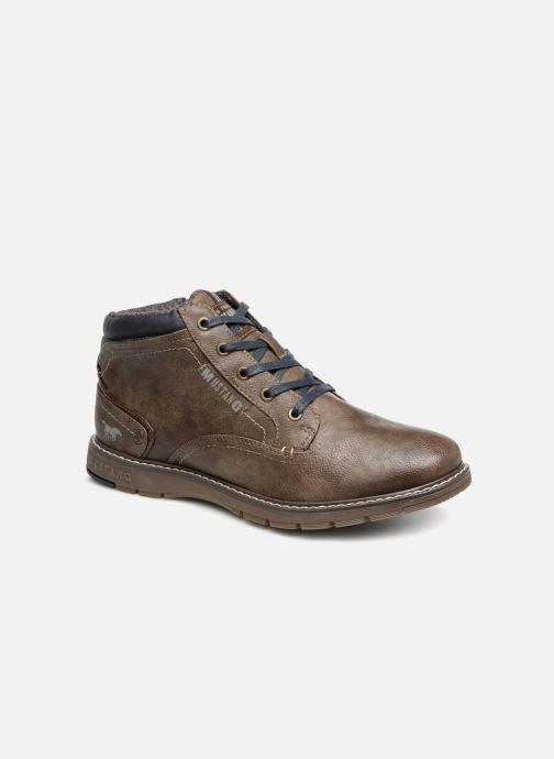 Bottines et boots Mustang shoes Mike Marron vue détail/paire