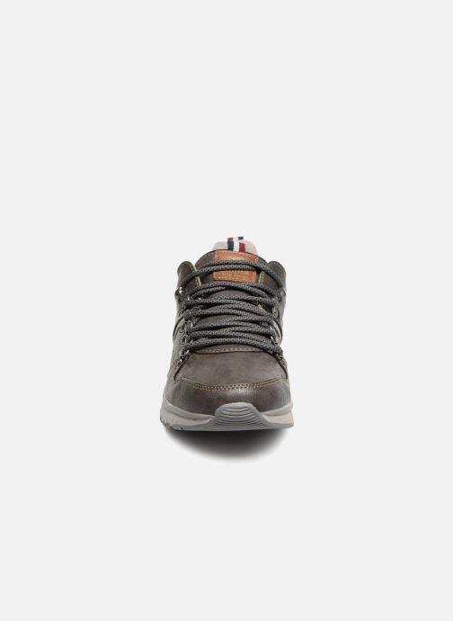 Sneaker Mustang shoes Sven grau schuhe getragen