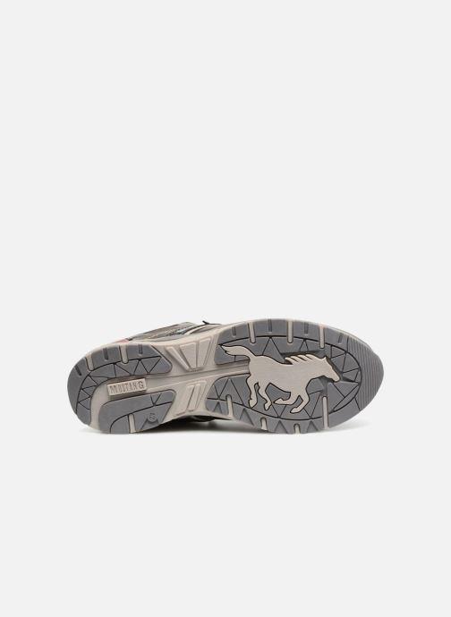 Sneaker Mustang shoes Sven grau ansicht von oben