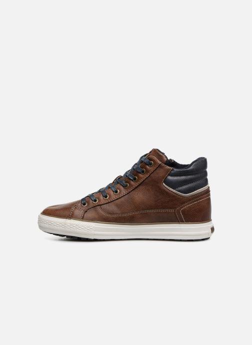 Sneaker Mustang shoes Garett braun ansicht von vorne