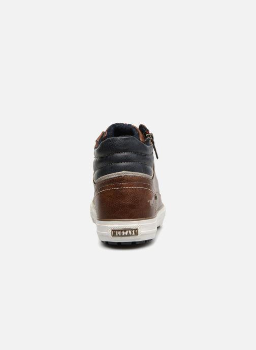 Sneaker Mustang shoes Garett braun ansicht von rechts