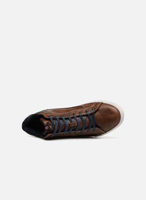 Sneaker Mustang shoes Garett braun ansicht von links