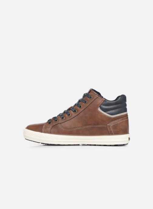 Baskets Mustang shoes Garett Marron vue face