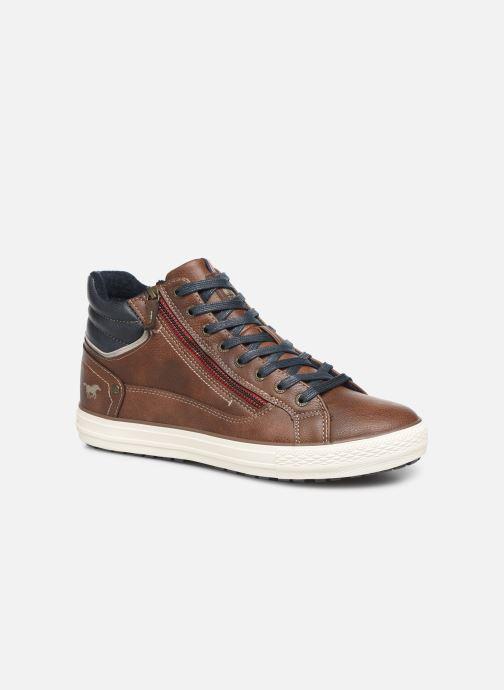 Baskets Mustang shoes Garett Marron vue détail/paire