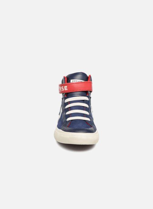 Sneakers Converse Pro Blaze Strap Hi Suede/Leather Blauw model
