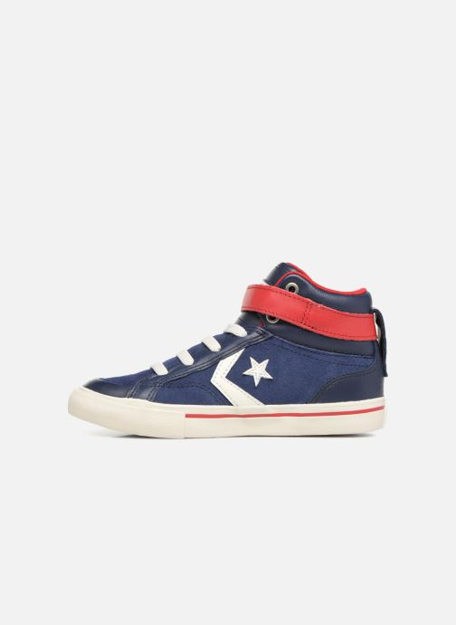 Sneakers Converse Pro Blaze Strap Hi Suede/Leather Blauw voorkant