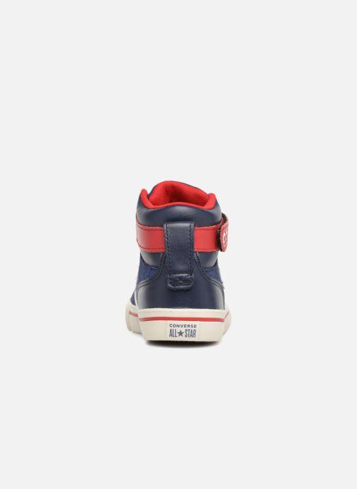 Sneakers Converse Pro Blaze Strap Hi Suede/Leather Blauw rechts