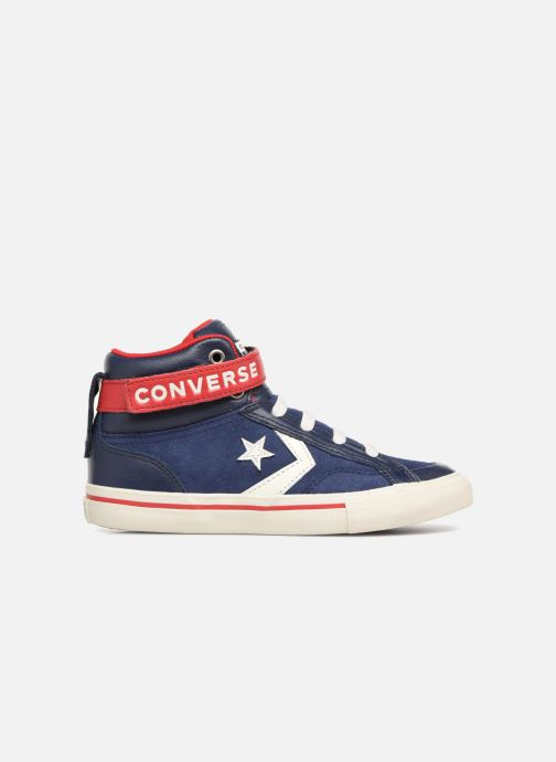 Sneakers Converse Pro Blaze Strap Hi Suede/Leather Blauw achterkant
