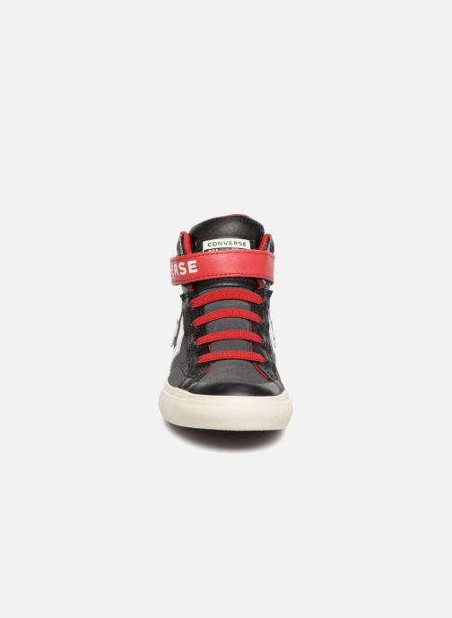 Sneaker Converse Pro Blaze Strap Hi Suede/Leather schwarz schuhe getragen
