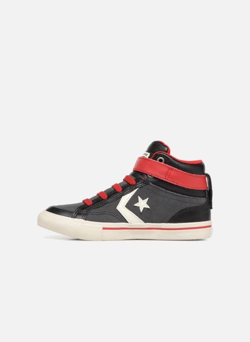 Sneaker Converse Pro Blaze Strap Hi Suede/Leather schwarz ansicht von vorne