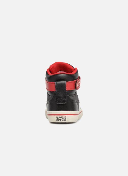 Sneaker Converse Pro Blaze Strap Hi Suede/Leather schwarz ansicht von rechts
