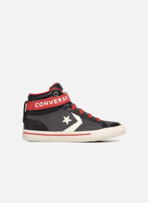 Sneaker Converse Pro Blaze Strap Hi Suede/Leather schwarz ansicht von hinten