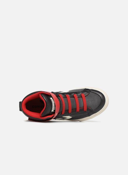 Sneaker Converse Pro Blaze Strap Hi Suede/Leather schwarz ansicht von links