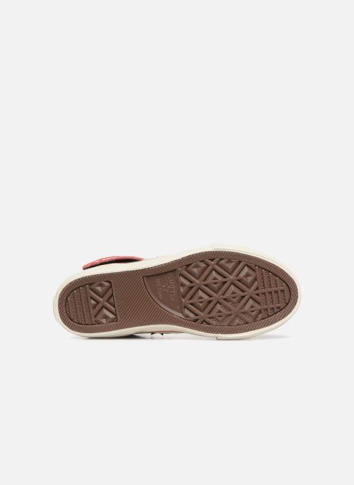 Sneaker Converse Pro Blaze Strap Hi Suede/Leather schwarz ansicht von oben