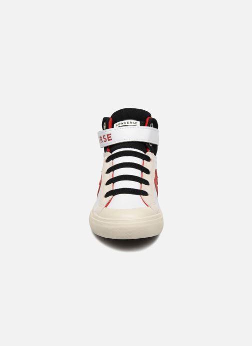 Sneaker Converse Pro Blaze Strap Hi Leather/Suede weiß schuhe getragen