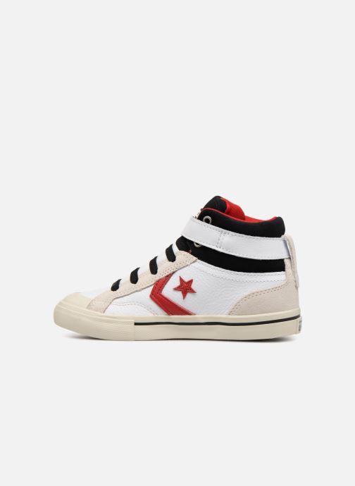 Sneaker Converse Pro Blaze Strap Hi Leather/Suede weiß ansicht von vorne