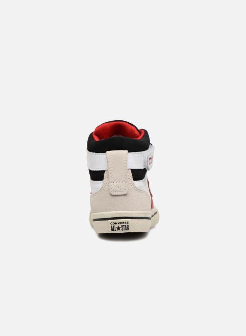 Sneaker Converse Pro Blaze Strap Hi Leather/Suede weiß ansicht von rechts