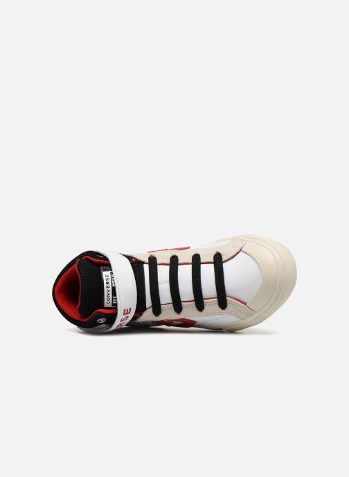 Sneaker Converse Pro Blaze Strap Hi Leather/Suede weiß ansicht von links