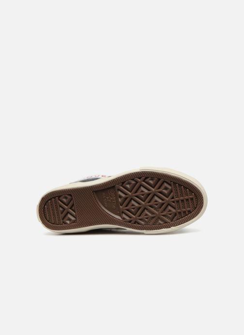 Sneaker Converse Pro Blaze Strap Hi Leather/Suede weiß ansicht von oben
