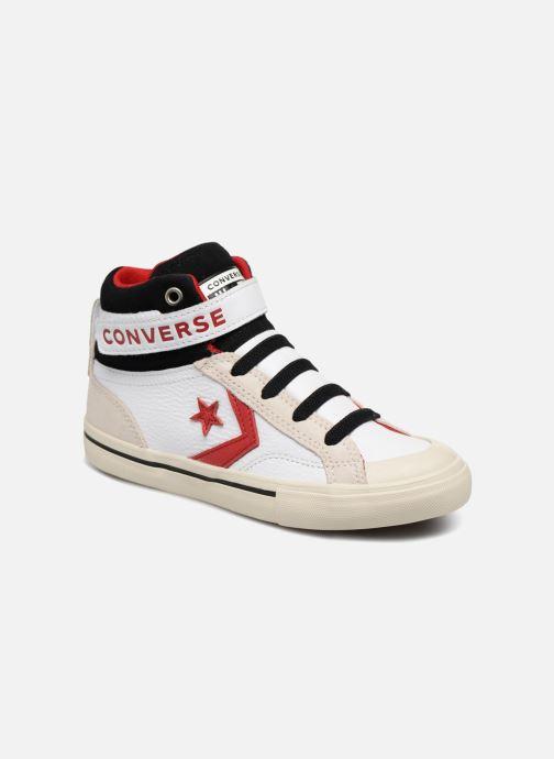 Sneaker Converse Pro Blaze Strap Hi Leather/Suede weiß detaillierte ansicht/modell