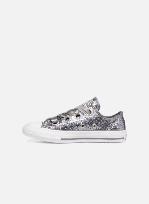 Baskets Converse Chuck Taylor All Star Big Eyelets Ox Party Dress Argent vue face