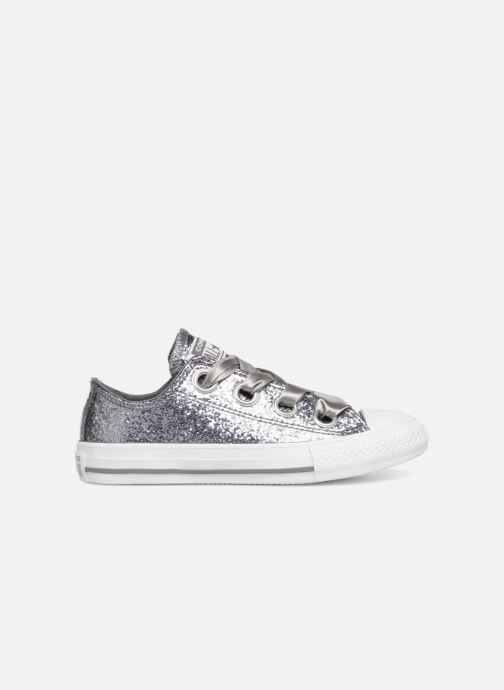 40bbdc2c39a Trainers Converse Chuck Taylor All Star Big Eyelets Ox Party Dress Silver  back view