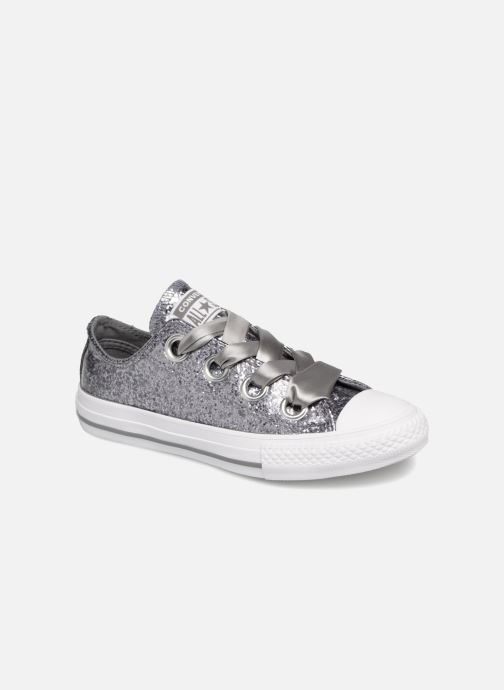 e7bf680f5ee Converse Chuck Taylor All Star Big Eyelets Ox Party Dress (Silver ...