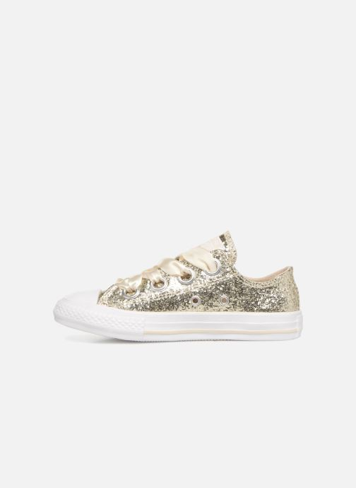 Baskets Converse Chuck Taylor All Star Big Eyelets Ox Party Dress Or et bronze vue face