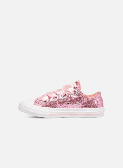 Baskets Converse Chuck Taylor All Star Big Eyelets Ox Party Dress Rose vue face