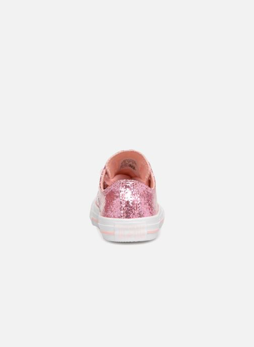 Baskets Converse Chuck Taylor All Star Big Eyelets Ox Party Dress Rose vue droite