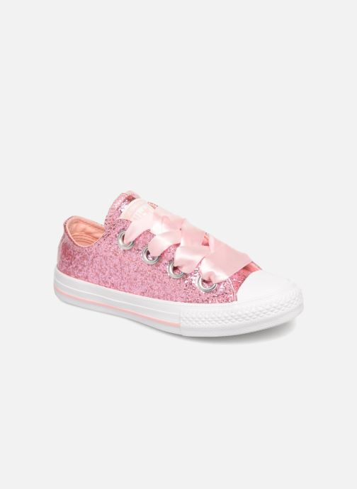 Baskets Converse Chuck Taylor All Star Big Eyelets Ox Party Dress Rose vue détail/paire