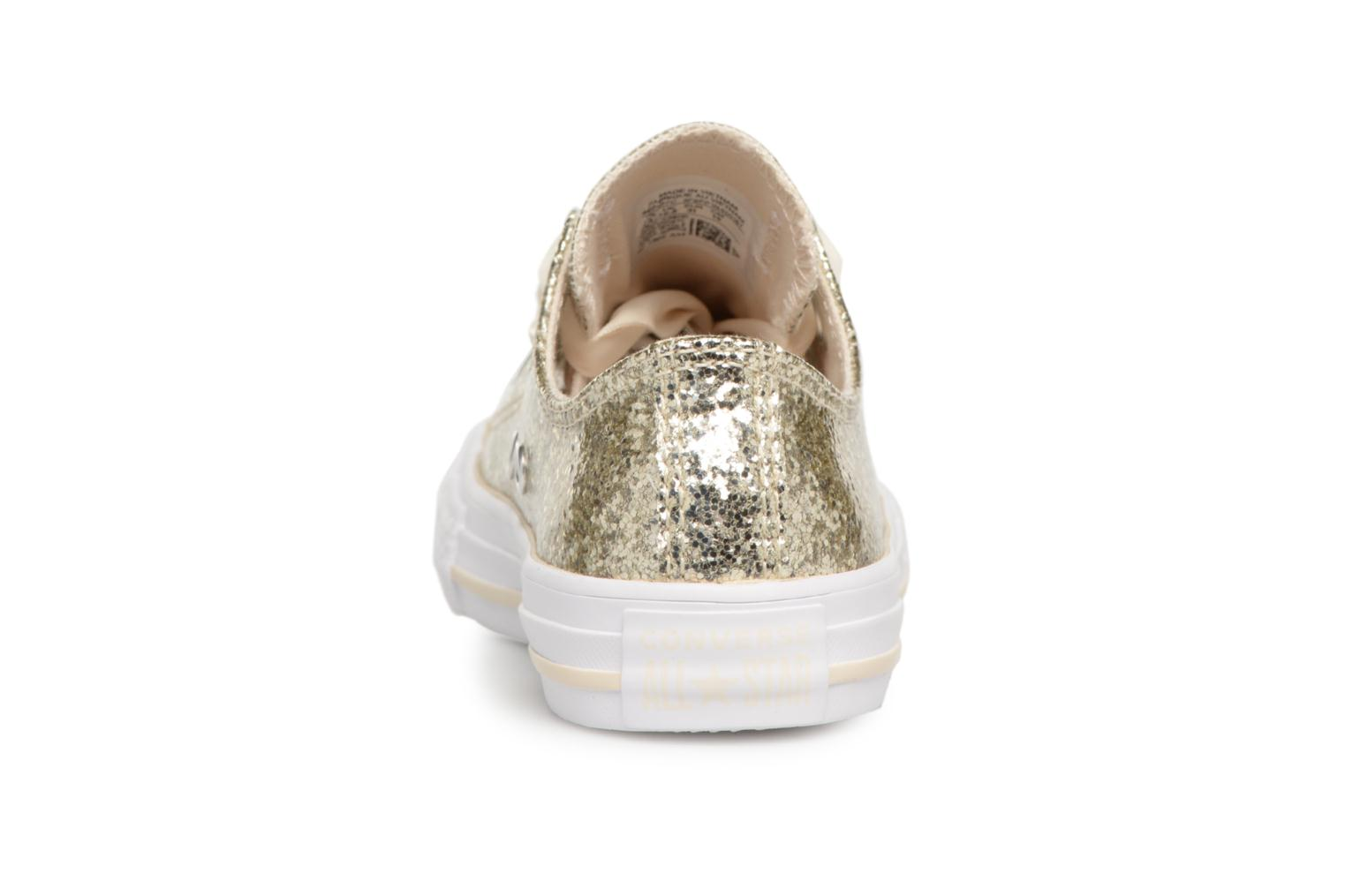 Baskets Converse Chuck Taylor All Star Big Eyelets Ox Party Dress Or et bronze vue droite