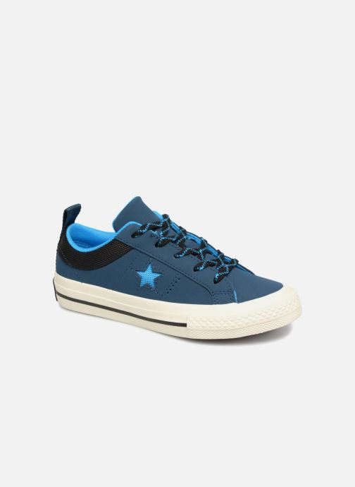 Sneakers Converse One Star Ox Sierra Blauw detail