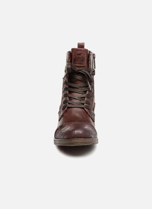 Stiefeletten & Boots Mustang shoes Lola weinrot schuhe getragen