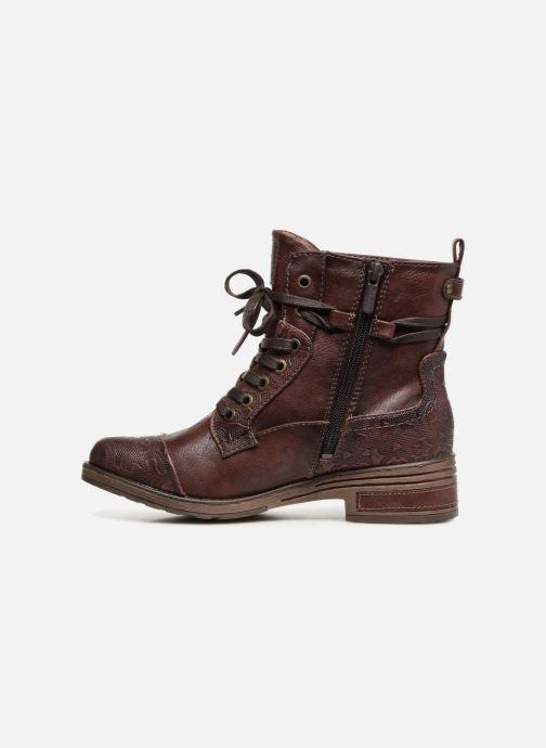 Bottines et boots Mustang shoes Lola Bordeaux vue face