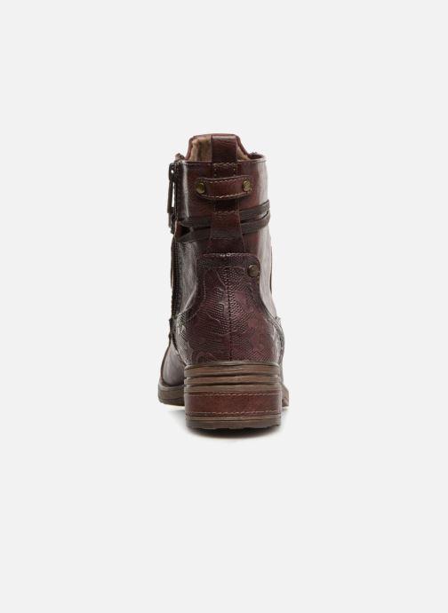 Bottines et boots Mustang shoes Lola Bordeaux vue droite