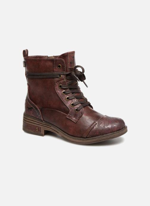 Bottines et boots Mustang shoes Lola Bordeaux vue détail/paire