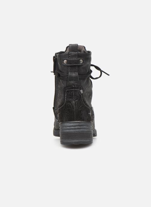 Bottines et boots Mustang shoes Lola Noir vue droite