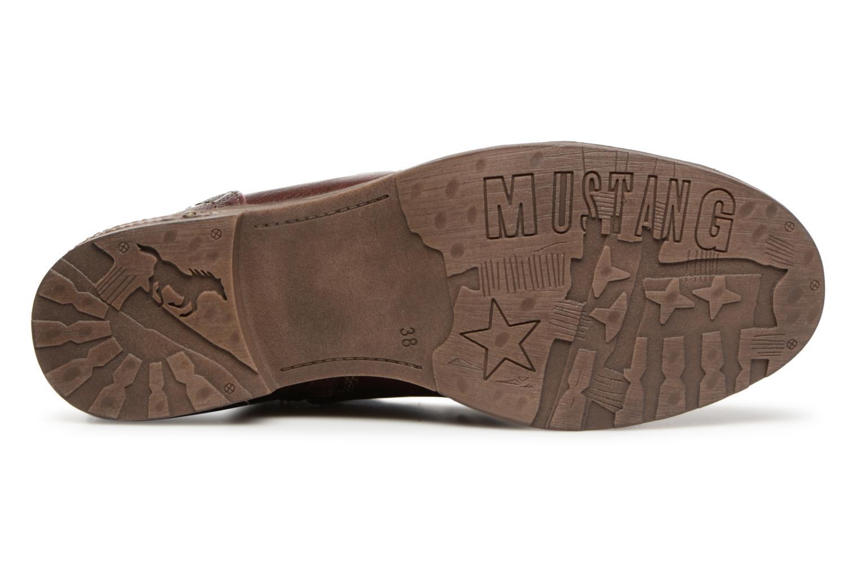 Bottines et boots Mustang shoes Lola Bordeaux vue haut