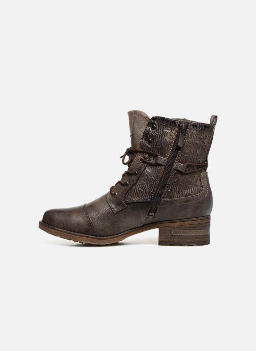 Bottines et boots Mustang shoes Karin Marron vue face