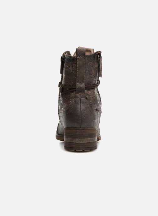 Bottines et boots Mustang shoes Karin Marron vue droite
