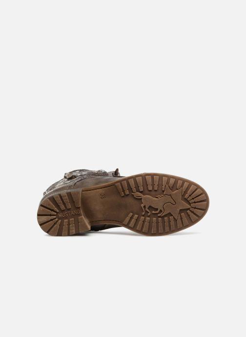 Bottines et boots Mustang shoes Karin Marron vue haut