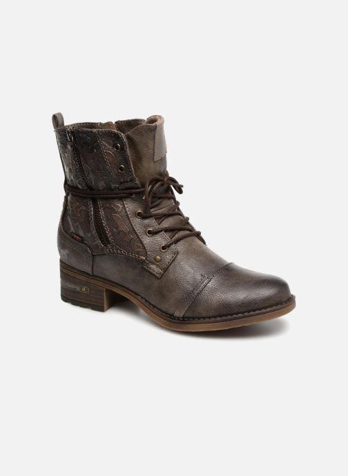 Bottines et boots Mustang shoes Karin Marron vue détail/paire