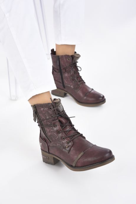 Boots en enkellaarsjes Mustang shoes Karin Bordeaux onder